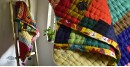online cotton filled quilt with bright colors