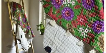 "Bird's Eye View ❣ Cotton - Embroidered Quilt (46"" x 72"")  D"