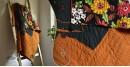 Birds Eye View ❣ Cotton - Applique & Embroidered Quilt  (74 x 51) | G