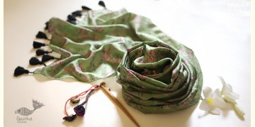 Soie ✻ Silk Stole With Wooden Hair Pin ✻ C