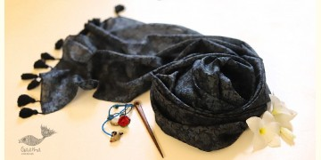 Soie ✻ Silk Stole With Wooden Hair Pin ✻ K