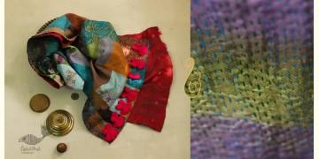 धनक ✥ Kantha Reversible Silk Stole ✥ 1