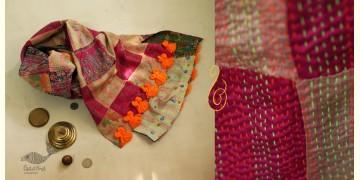 धनक ✥ Kantha Reversible Silk Stole ✥ 8
