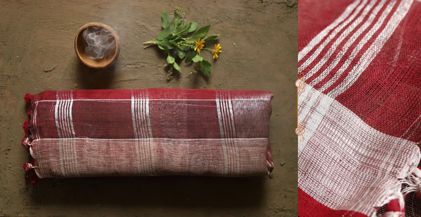 तुलसी ✽ Handloom  Linen Saree ✽ 3