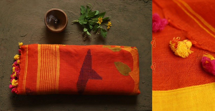 तुलसी ✽ Handloom Linen Saree ✽ 5