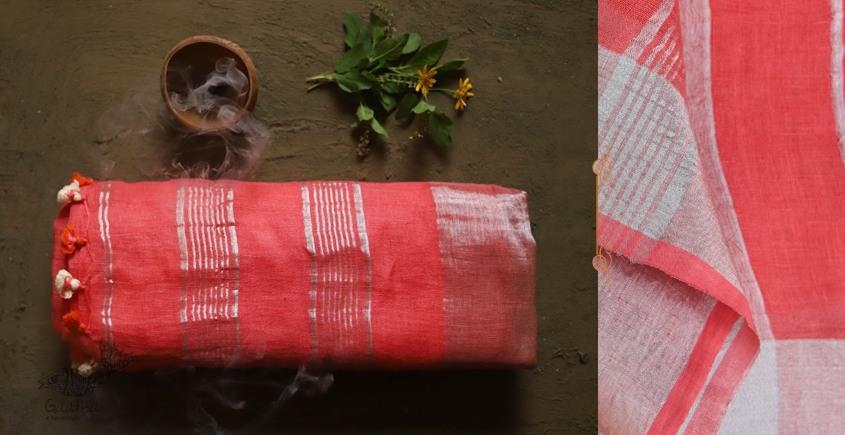 तुलसी ✽ Handloom Linen Saree ✽ 8