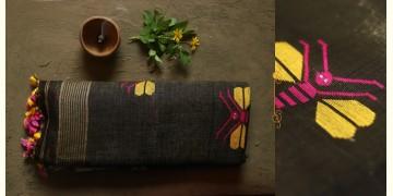 तुलसी ✽ Handloom Linen Saree ✽ 9