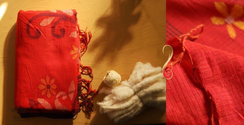 सूती ▦ Handloom Cotton Saree ~ 16