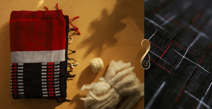 सूती ▦ Handloom Cotton Saree ~ 28