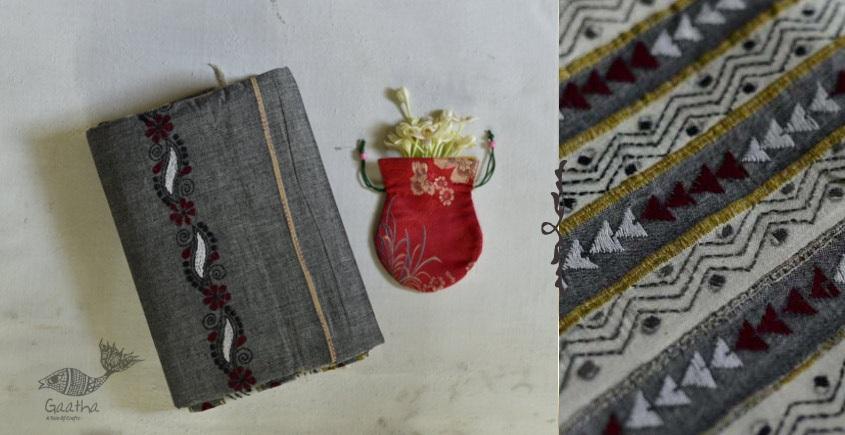 Indrani . इंद्राणी   Handloom Cotton Saree ~ Kantha work ~ 12