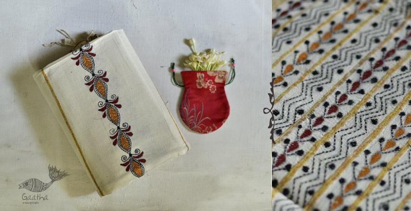 Indrani . इंद्राणी | Handloom Cotton Saree ~ Kantha work ~ 13