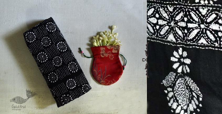 shop Handwoven Cotton Kantha Embroidered Dupatta Online