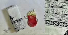 Indrani . इंद्राणी   Handloom Cotton Dupatta ~ Kantha work ~ 15
