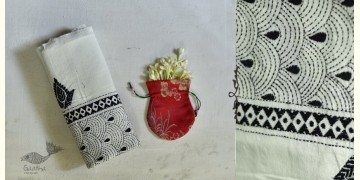 Indrani . इंद्राणी | Handloom Cotton Dupatta ~ Kantha work ~ 15