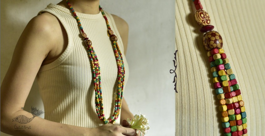 one and only handcrafted designer Wooden Beads Necklace