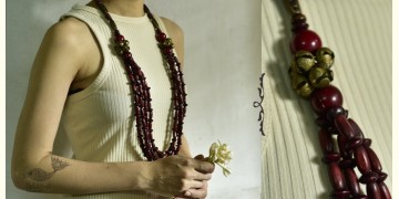 Indrani . इंद्राणी | Wooden Beads Necklace ~ 19