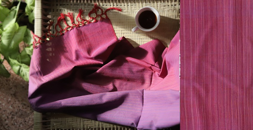 buy online handwoven Pink & Purple cotton stole