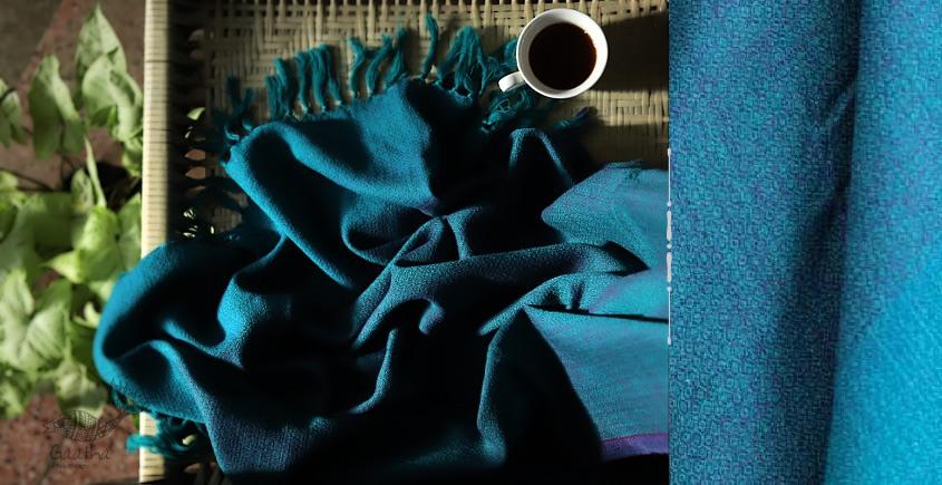 buy online handwoven Blue Woolen Shawl