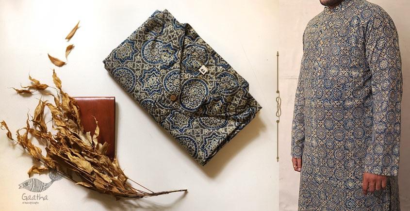 Advay : अद्वय  | Ajrakh printed - Cotton long kurta - 16