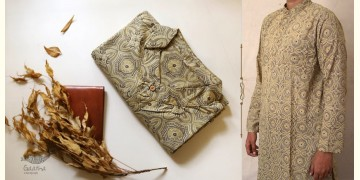 Advay : अद्वय  | Ajrakh printed - Cotton long kurta - 9