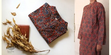 Advay : अद्वय    Ajrakh printed - Cotton long kurta - 2