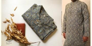 Advay : अद्वय    Ajrakh printed - Cotton long kurta - 4