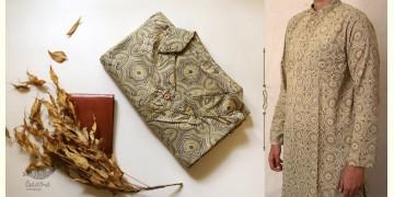 Advay : अद्वय    Ajrakh printed - Cotton long kurta - 9