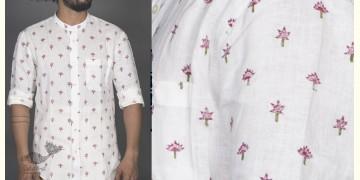 Lotus Bagh ● Linen Block Printed Shirt ● 4