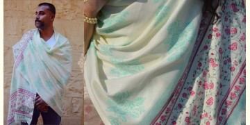 Gulshan ✿ Block Printed Woolen Shawl ~ 1
