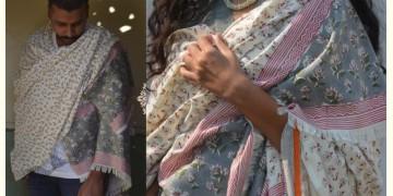 Gulshan ✿ Block Printed Woolen Shawl ~ 3