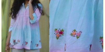Gulshan ✿ Hand Embroidery Tie & Dye Top ✿ 6