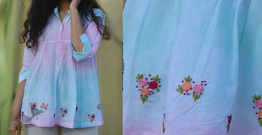 Gulshan ✿ Hand Embroidery Tie & Dye Top ✿ 6