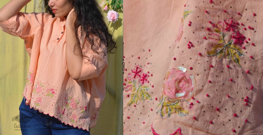 Gulshan ✿ Hand Embroidery Cotton Top ✿ 7