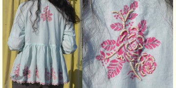Gulshan ✿ Block Printed & Hand Embroidered Kedio Top ✿ 8