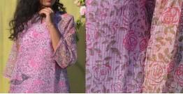 Gulshan ✿ Block Printed Rose Kota Top ✿ 10