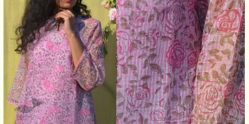 Gulshan ✿ Block Printed Rose Kota Top ✿ 10