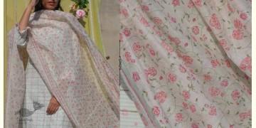 Gulshan ✿ Chanderi Silk Block Printed Rose Dupatta ✿ 11