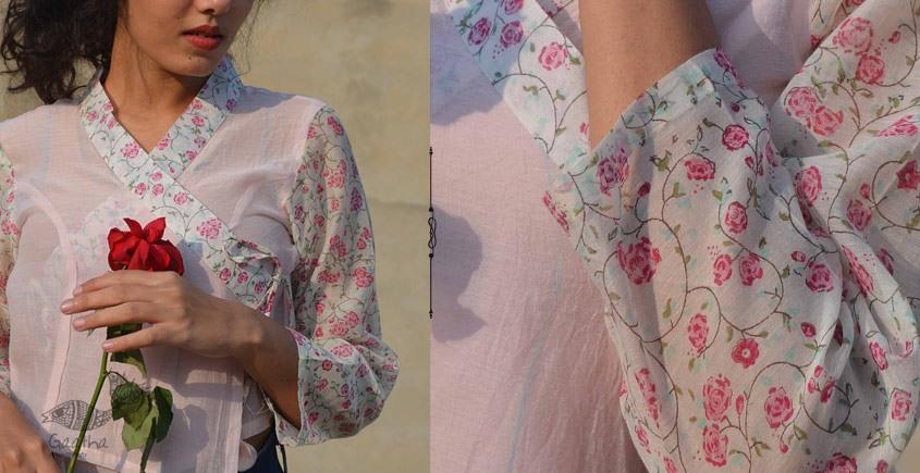 Gulshan ✿ Block Printed Rose Blouse / Crop Top ✿ 11