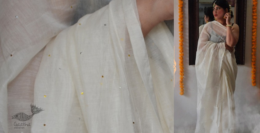 Shaahi ❂ Hand Embroidered Chanderi Saree ❂ I