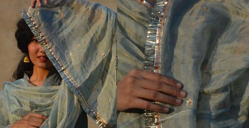 Gulshan ✿ Tissue silk Embroidered Dupatta ✿ 6