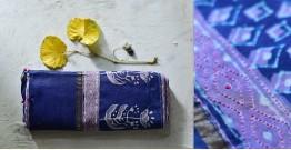 पलक ⚛ Dabu Printed . Embroidered Chanderi Saree ⚛ 8