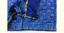 chanderi Saree with embroidery - Block Printed -in blue