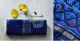 पलक ⚛ Dabu Printed . Embroidered Chanderi Saree ⚛ 5