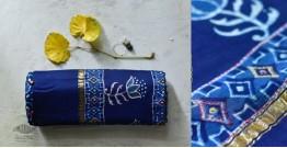 पलक ⚛ Dabu Printed . Embroidered Chanderi Saree ⚛ 6