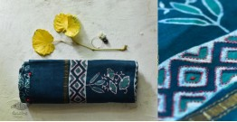 पलक ⚛ Dabu Printed . Embroidered Chanderi Saree ⚛ 7