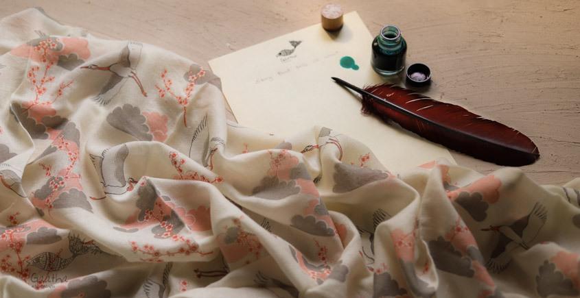 Izhaar | इज़हार ☙ Angora Woolen Printed Stole ☙ 15