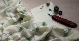 Izhaar   इज़हार ☙ Angora Woolen Printed Stole ☙ 21