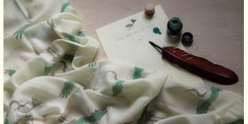 Izhaar | इज़हार ☙ Angora Woolen Printed Stole ☙ 21