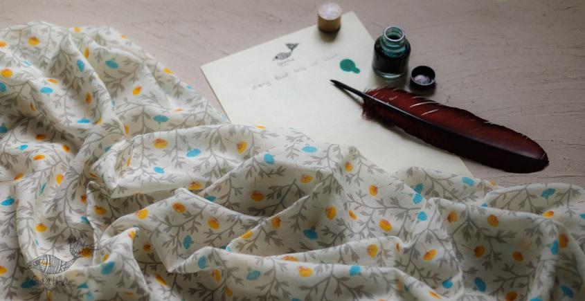 Izhaar | इज़हार ☙ Angora Woolen Printed Stole ☙ 24