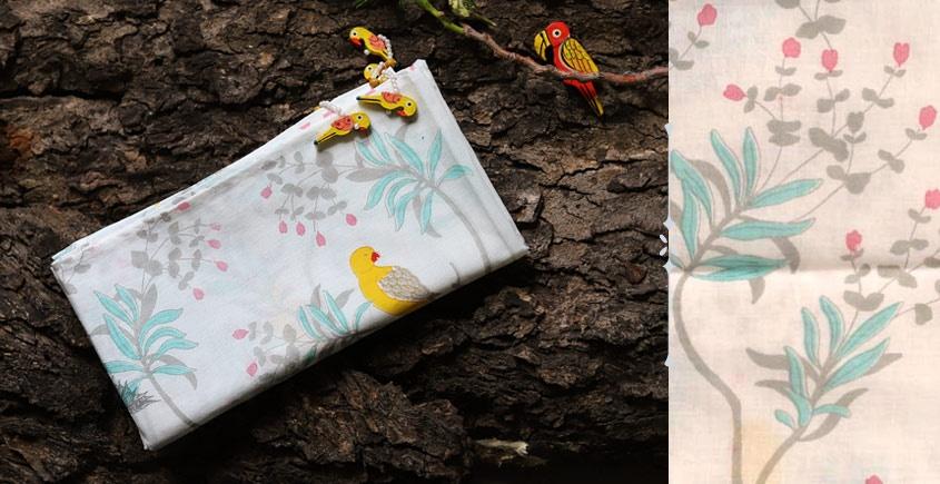 hand loom chanderi silk stole - Printed